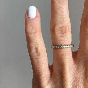 14k White Gold Diamond Half Eternity Band